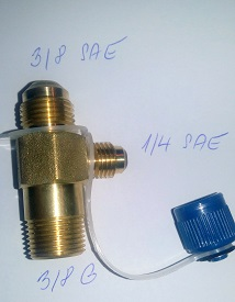 adapter šroubovací T3 (ZG3/8) Value (3/8SAE,1/4SAE,3/8G)