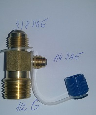 adapter šroubovací T3 (ZG1/2) Value (3/8SAE,1/4SAE,1/2G)